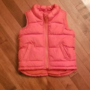 Old navy frost free toddler zip up vest 18-24 mos